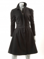 BLACK Coat with detachable Jacket M1126