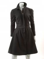 BLACK Coat with detachable Jacket M1126