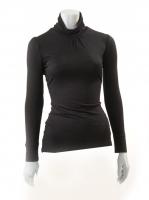 BLACK Light knit Turtle neck W14