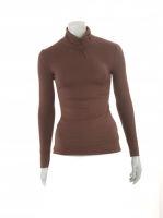 BROWN Light knit Turtle neck W14