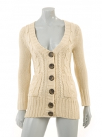 CREAM Knitted Chunkey Cardigan W05