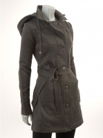 GREY Hooded Coat W9