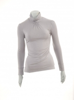 GREY Light knit Turtle neck W14