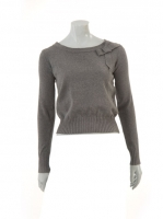 GREY Short Knit with Bow detail W-09