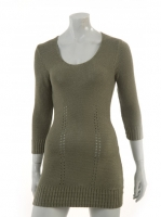KAKHI Knitted long top with string detailed back W019