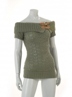 KAKHI knitted tunic with buckle detail W016