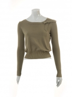 KHAKI Short Knit with Bow detail W-09