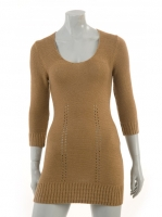 MOCCA Knitted long top with string detailed back W019