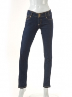 NAVY  Jeans with two button detail W027