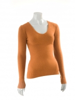 RUST Vneck fitted knit W002