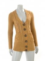 TAN Knitted Chunkey Cardigan W05