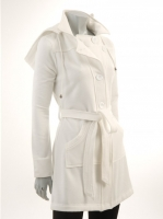 WHITE Hooded Coat W9