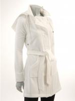 WHITE Hooded Coat W9