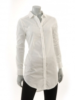 WHITE Long blouse M1037